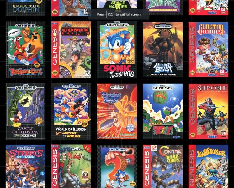 Genesis Games List